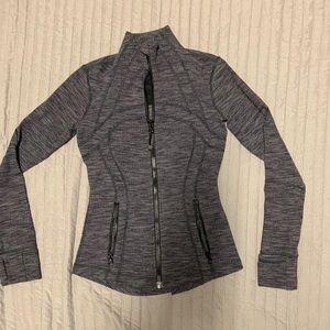 Lululemon Heather Gray Full Zip Athletic Jacket